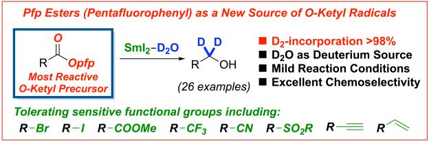 Pfp esters ketyl radicals samarium diiodide