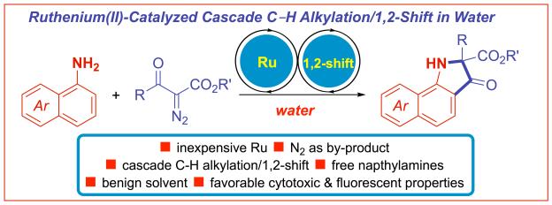 Ruthenium C-H alkylation shift naphthylamines